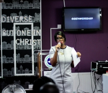 """Yvonne Ellis speaking about Abuse at the """"You're not alone"""" event. July 2016"""