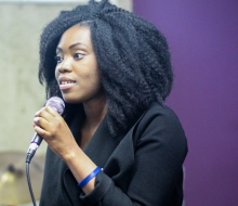 """Gloria Tukeba speaking about Loneliness and Suicide at the """"You're not alone"""" event. July 2016"""
