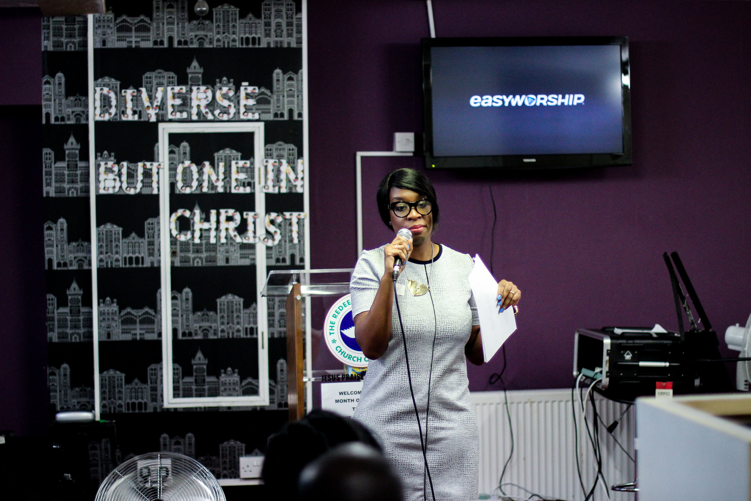 "Yvonne Ellis speaking about Abuse at the ""You're not alone"" event. July 2016"