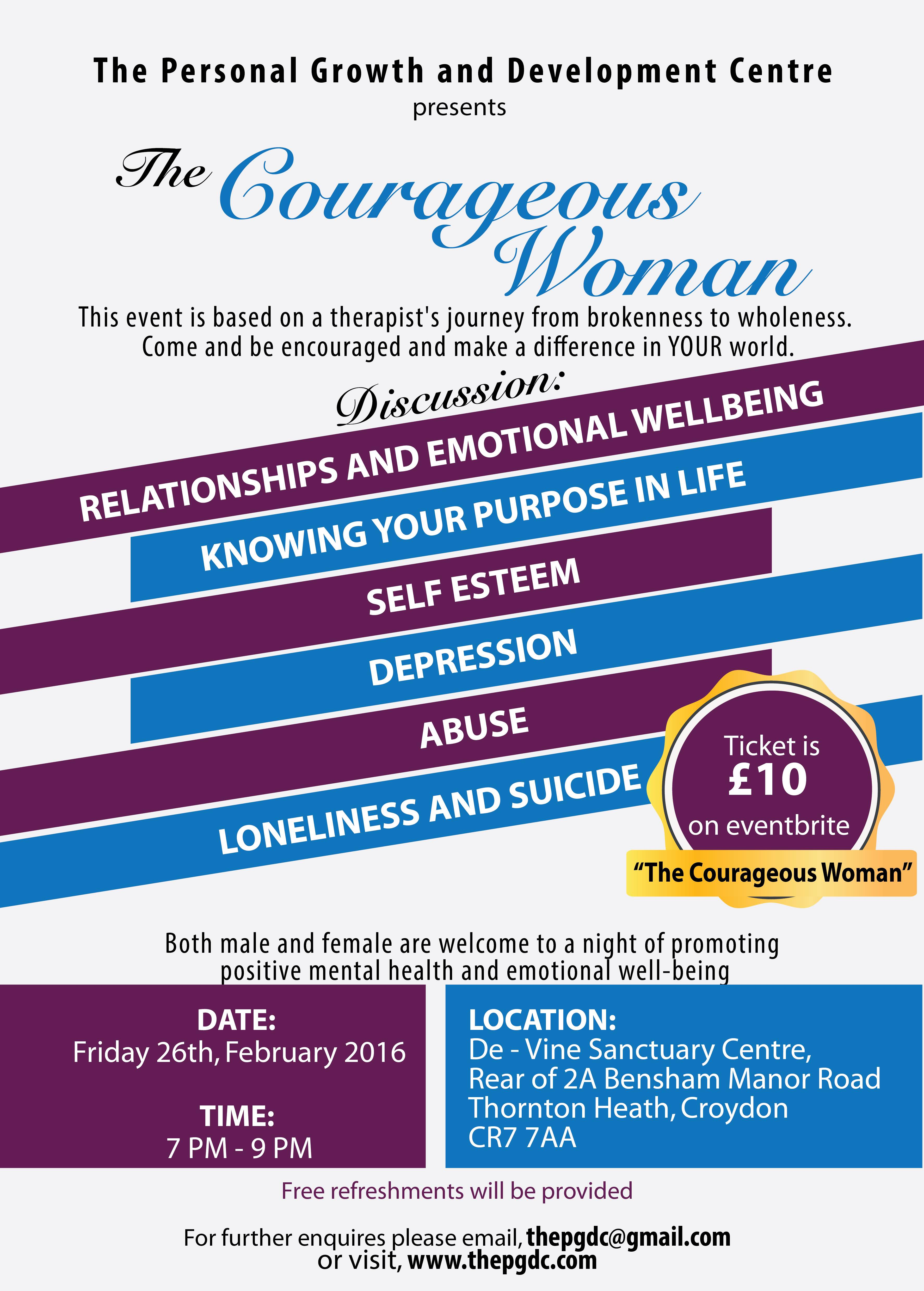 Courageous Woman event in February 2016